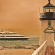 Godspeed At Brant Point Nantucket Island Art Print
