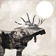 Going Wild Moose Art Print