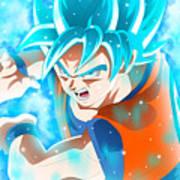 Goku In Dragon Ball Super  Art Print