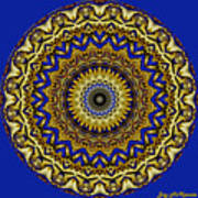 Gold And Sapphires  Art Print