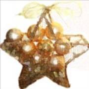 Gold Ball Star Art Print