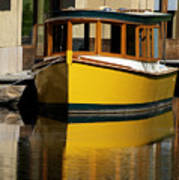 Gold Boat Reflects Art Print