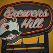 Gold Brewers Hill Art Print