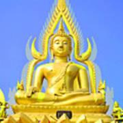 Gold Buddha Statue Art Print by Somchai Suppalertporn