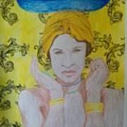 Gold Eyes Art Print