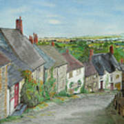 Gold Hill  Shaftesbury Art Print