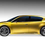 Gold Lexus Lf-ch Hybrid Car Art Print