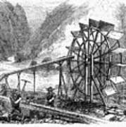 Gold Mining, 1860 Art Print