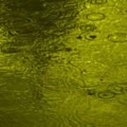 Gold Rain Droplets Art Print