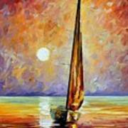 Gold Sail Art Print