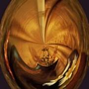 Gold Satin Art Print by Marsha Heiken