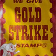 Gold Strike Stamps Art Print