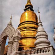 Gold Stupa Art Print