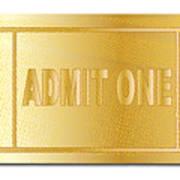 Gold Ticket Admit One Art Print