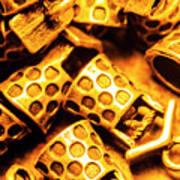 Gold Treasures Art Print