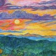 Golden Blue Ridge Sunset Art Print