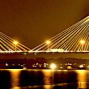 Golden Bridge Art Print