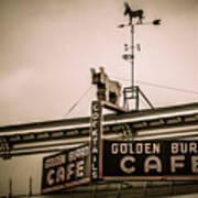 Golden Burro Cafe 2 Art Print