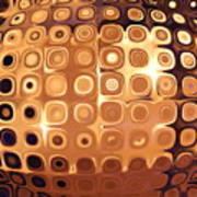 Golden Candle Globe Art Print