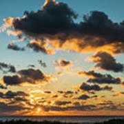 Golden Cloud Sunrise Delray Beach Florida Art Print