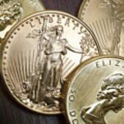 Golden Coins Art Print