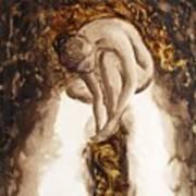 Golden Column Art Print