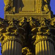 Golden Columns Palace Of Fine Arts Art Print