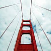 Golden Crossing - Golden Gate Bridge San Francisco Art Print