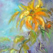 Golden Dahlia Art Print