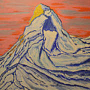 Golden Dawn On Matterhorn Art Print