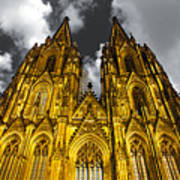 Golden Dome Of Cologne Print by Thomas Splietker