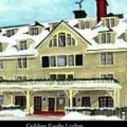 Golden Eagle Lodge Art Print