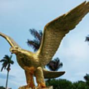 Golden Eagle Take Off Art Print