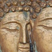Golden Faces Of Buddha Art Print