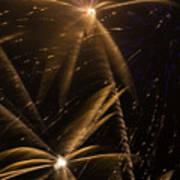 Golden Fireworks Art Print
