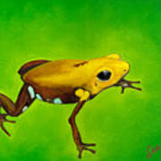 Golden Frog Of Supata Art Print by Sabina Espinet