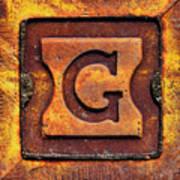 Golden G Art Print