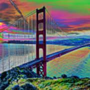 Golden Gate 1 Art Print