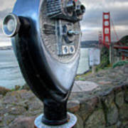 Golden Gate Binoculars Art Print by Peter Tellone