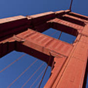 Golden Gate Bridge At An Angle Art Print