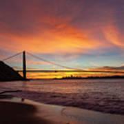 Golden Gate Bridge At Dawn Art Print