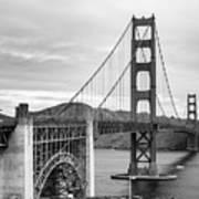 Golden Gate Bridge Black And White Art Print