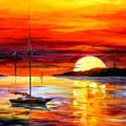 Golden Gate Bridge By The Sunset Art Print