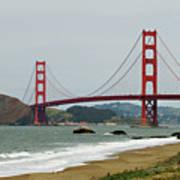 Golden Gate Bridge From Baker Beach Art Print