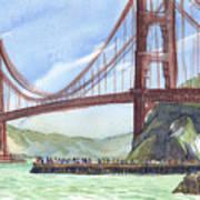 Golden Gate Bridge From Fort Baker, Ca Art Print