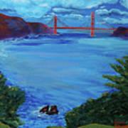 Golden Gate Bridge From Lincoln Park Art Print