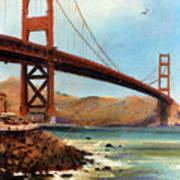 Golden Gate Bridge Looking North Art Print