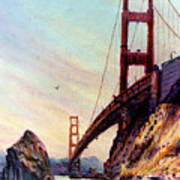 Golden Gate Bridge Looking South Art Print