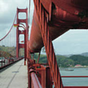Golden Gate Bridge Low Point Of Cable Art Print