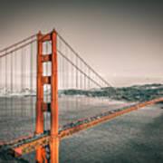 Golden Gate Bridge Selective Color Art Print